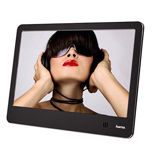 Hama Digitaler Bilderrahmen Slim Steel (20,32 cm (8 Zoll), SD/SDHC/MMC-Kartenslot, USB, 4 GB Speicher, Musik-/Videowiedergabe, mit Fernbedienung) schwarz