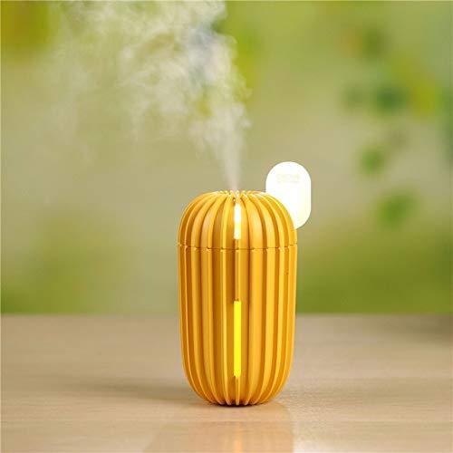 Cactus Humidificador Difusor De Aroma De Aceite Esencial con Lámpara Led Humidificadores De Aire Ultrasónicos Eléctricos para Oficina En El Hogar 200 Ml Naranja