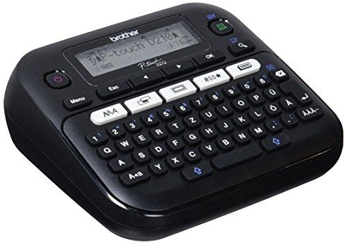 Brother PT-D210 Beschriftungsgerät, QWERTZ Tastaturlayout (für 3,5 bis 12 mm breite TZe-Schriftbänder, bis zu 20 mm/Sek. Druckgeschwindigkeit)