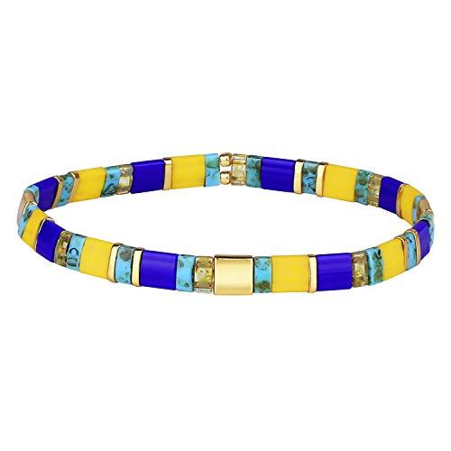 KANYEE Bracelets élastique pour Femme Bracelets D'amitié Bracelets Perlés Tila Bracelets Breloques Mode De Manchette pour Cadeaux d'anniversaire – 8E