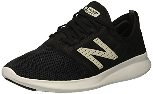 New Balance Women's FuelCore Coast V4 Running Shoe, Black/White, 8.5 B US