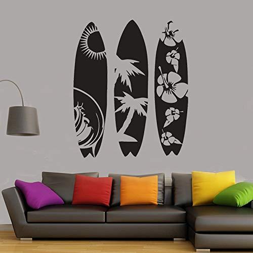 yaonuli Surfbrett wandaufkleber raumdekoration entfernbare Vinyl Aufkleber im Wohnzimmer surf Enthusiast Schlafzimmer wandkunst wandbild 75x63 cm