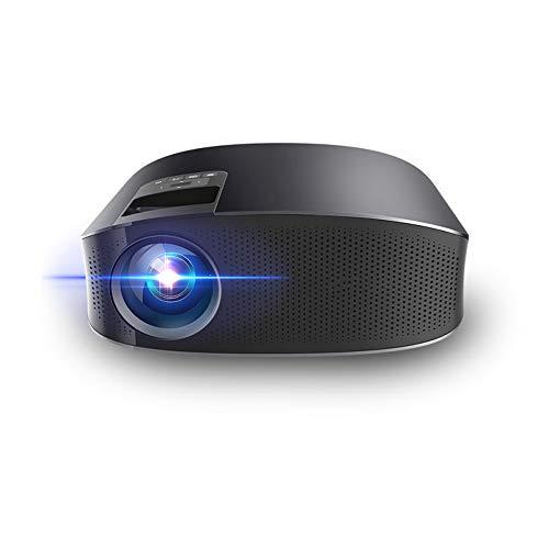 1080p HD projector kantoor home videoprojector kleine mini-projector, ingebouwde dual subwoofer 180 inch mobiele telefoon projectiescherm ondersteunt 23 talen