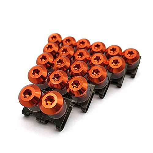 SHUILIANDU 20pcs Fit para BMW C400GT C600 C650 C650GT Sport F650GS F700GS F800R Motorycle Cuerda CUERDED CUADRADOR Cuerpo Cuerpo Tornillo Tornillos de Resorte Nueces M6 (Color Name : Orange)