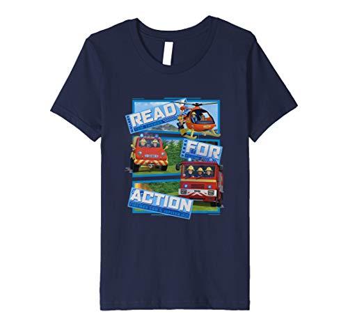 Kinder Feuerwehrmann Sam T-Shirt, Action, viele Größen+Farben