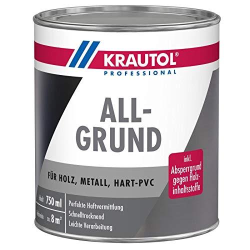 Krautol ALLGRUND, haftvermittelnde, schnelltrocknende Acryl-Grundierung grau, 750 ml