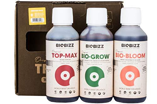 Weedness BioBizz Dünger Set 3-Teiliges Indoor Try Pack - Naturdünger Bio Dünger Grow BioBizz Starters Pack Orchideen Blaukorn