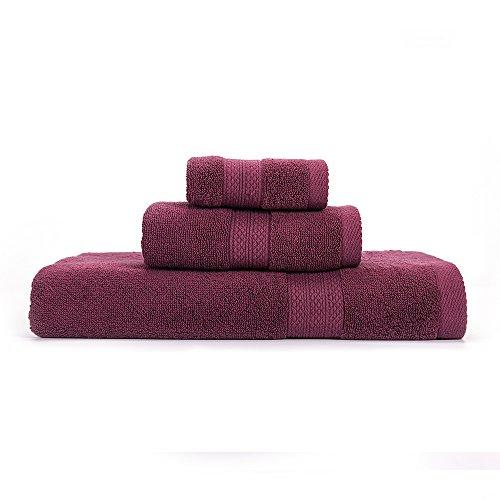 Toallas de Baño de Algodón Egipcio 100% Puro de 650 g/m², Extra absorbentes, 3 Piezas, Juego de Toallas de Baño, Cara + Mano + Toalla de Baño, Color Crema y Marfil