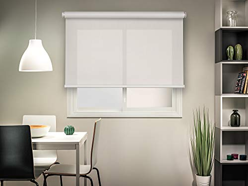 Easydeco Estor Enrollable Screen autofrenado (180_x_190_cm, Blanco)