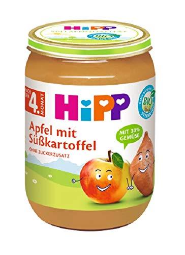 Hipp Frucht & Gemüse, Apfel-Süßkartoffel, 6er Pack (6 x 190 g)