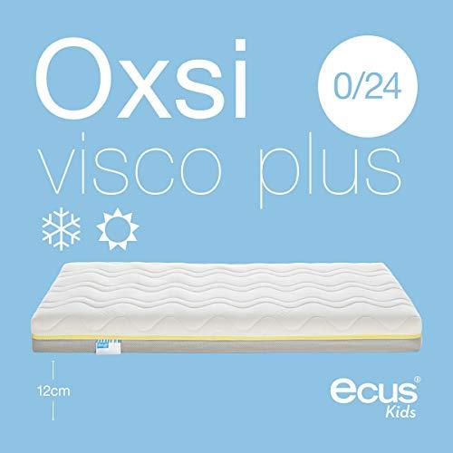 Ecus Kids viscoelástica Colchón de Cuna oxsi visco Plus 140 x 070, 140x70x12