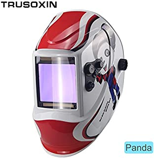 Welding helmet|welding mask|Big view eara 4 arc sensor DIN5-DIN13 Solar auto darkening TIG MIG MMA welding mask/helmet/welder cap/lens/face mask|By KALLAR