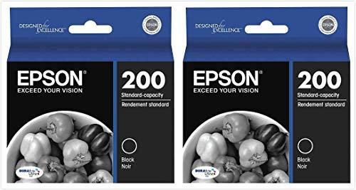 Epson Genuine 200 (T200120) DURABrite Ultra Black Ink Cartridge 2-Pack
