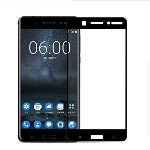 Amazon Brand - Solimo Full Body Tempered Glass with Installation Kit for Nokia 6 - Black