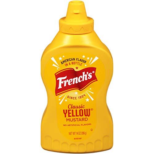 French's Classic Yellow Mustard (Stone Ground Mustard, Gluten Free), 14 oz