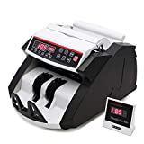UFLIZOGH Money Counter Banknotes Bill Cash Counting Machine Counterfeit Detector Automatic UV/MG Multi