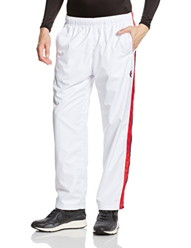 [コンバース] バスケットボール パンツ ウォームアップパンツ(裾ボタン) 撥水 透湿 CB162506P ホワイト/ネイビー 日本 S (日本サイズS相当)