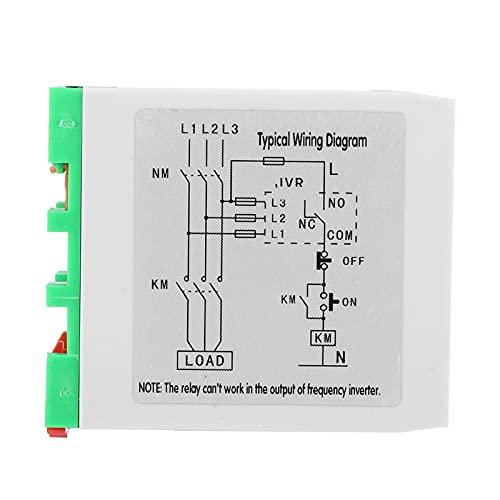 Protección contra desequilibrio de Voltaje Relé de Voltaje Robusto relé de protección de Circuito de 220 VCA Estable indispensable para compresores de Aire/Motores eléctricos