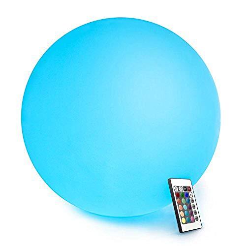 Mr.Go 40cm Wasserdichte Kugelleuchte für Außen, LED Kugel-Lampe Innen, Gartenkugel Aussenlampe Leuchtkugel Stimmungsleuchte mit Farbwechsel, Fernbedienung und 16 Einstellbar RGB Farben
