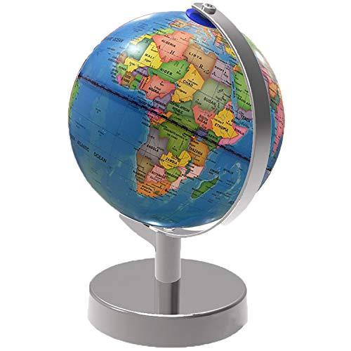 Beleuchtet Welt Globus, 2 in 1 Globus Erde und Konstellationen Eingebaute LED für beleuchtete Nachtansicht, 8-Zoll-pädagogische Welt Globus für Geschenk Home Office Schreibtisch Dekoration
