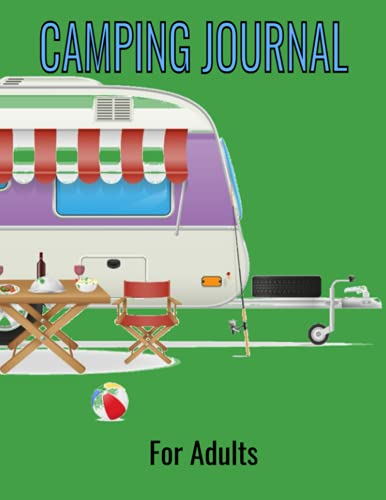 Camping Journal For Adults: Trailer Camp Caravan Theme
