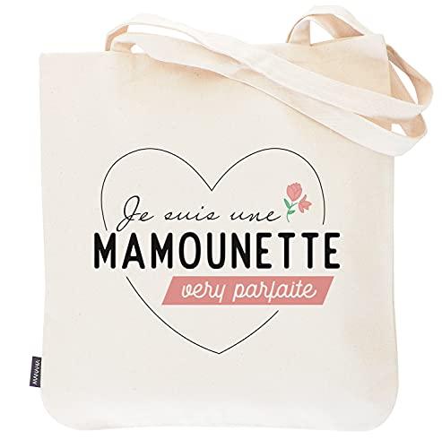 Manahia Totebag maman - Je suis une mamounette very parfaite Sac imprimé en France 100% coton   cadeau maman - sac maman - cadeau fête des mères