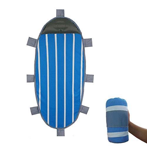 Matelas autogonflants Coussin de Couchage Ultra-léger Oreiller de randonnée en Plein air Portable imperméable Unique airbed,Blue