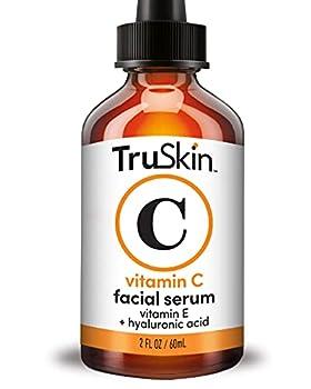 TruSkin Vitamin C Serum for Face Anti Aging Serum with Hyaluronic Acid Vitamin E Organic Aloe Vera and Jojoba Oil Hydrating & Brightening Serum for Dark Spots Fine Lines and Wrinkles 2 fl oz