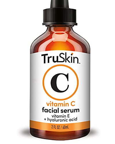 TruSkin Vitamin C Serum for Face with Hyaluronic Acid, Vitamin E, Witch Hazel, Large Bottle 2 fl oz