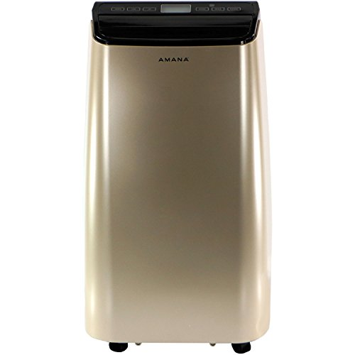 Amana AMAP121AD Portable Air Conditioner with Remote Control in Gold/Black for Rooms up to 350 -Sq. Ft.