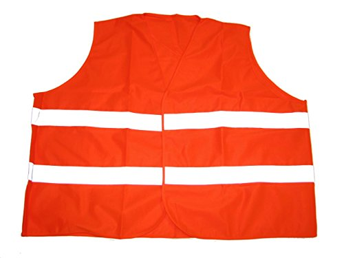 BigTiger Warnweste in Übergröße Orange (6XL Brustumfang 176cm Länge ca 74cm)
