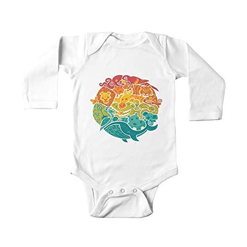 Animal Rainbow - Crema Bebé De Una Pieza