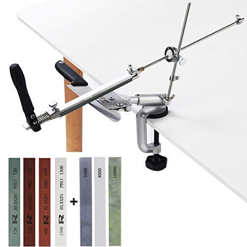 MOVIRON Professional Knife Sharpener Knife Sharpening Kit System, 360° Flip Design, Rotation...