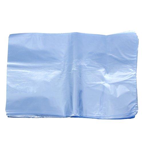 Kuinayouyi 100pzs Bolsas Envoltura de Encogimiento de Calor Embalaje de Regalo de Sello Plano 8 Pulgadas x 12 Pulgadas