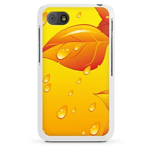 DeinDesign Blackberry Q5 Hülle Case Handyhülle Leaves Blaetter Regentropfen
