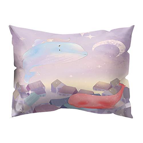 Hunpta @ Kissenbezug 30x50 cm - Fantasie Landschaft Kissenhüllen Kopfkissenbezug für Wohnzimmer Schlafzimmer Kinderzimmer Bett Sofa Dekor Home Dekorative Zierkissenbezüge mit Reißverschlüsse