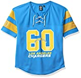 Ultra Game NFL Los Angeles Chargers Womenss Penalty Box Jersey, Team Color, X-Large