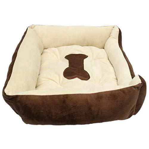 Caseta de Perro, El gato cachorro suave paño grueso y suave acogedor del amortiguador de la estera del cojín de la perrera grande estera del animal doméstico del animal doméstico caliente cama nido