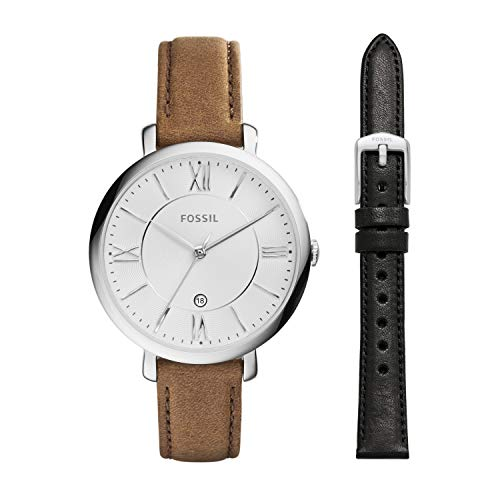 Fossil Women's Jacqueline Quartz Stainless Steel and Leather...