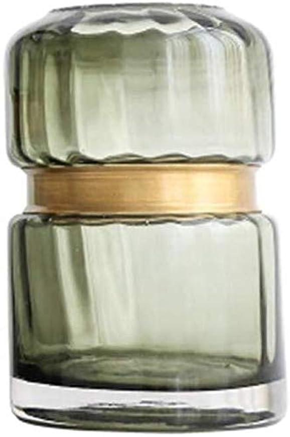 食物読む精神医学花器 ガラスの花瓶透過テーブルデコレーション耕植物花瓶屋内コレクションリビングルームベッドルーム小サイズ (Size : 18*7.5cm)