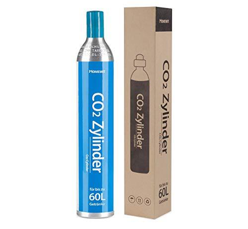 Agoer CO2 Zylinder | erstbefüllt in Deutschland | Pro Füllung bis zu 60 L Sprudelwasser | geeignet für SodaStream(z.B. SodaStream Crystal, Easy, Power & Cool) Wassersprudle