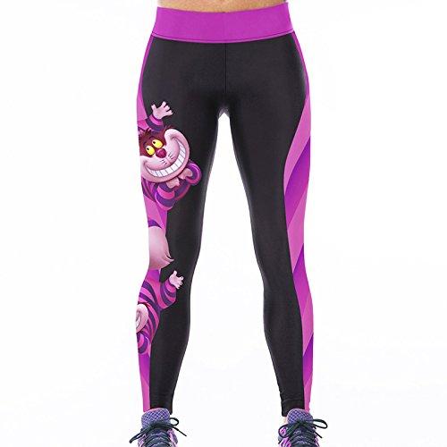 Tamskyt - Mallas ajustadas para mujer, con estampado digital de unicornio para entrenar Gato. Talla única