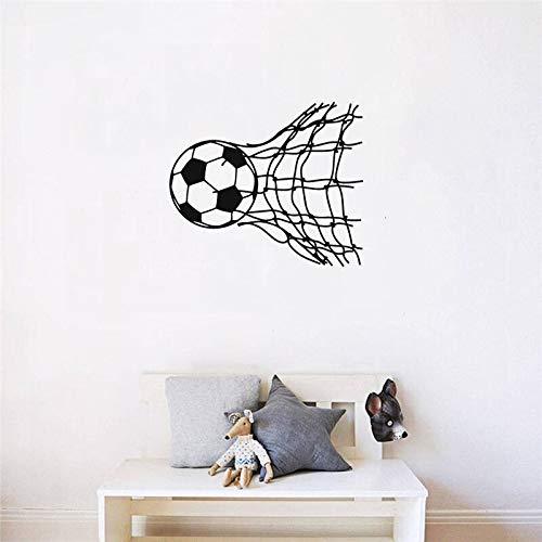 WERWN GameWall Sticker Decal Fútbol Fútbol Patrón Vinilo Etiqueta de la Pared Goal Modern Kid Room Boy Dormitorio Decoración del hogar Mural Interior DIY 57 * 67cm
