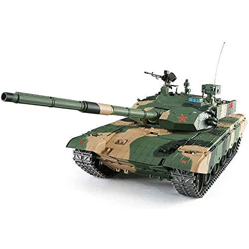 YSKCSRY Modelo De Tanque del Ejército A Escala 1/16, Tanque Chino 99A con Radio De 2.4G, (Caja De Cambios De Acero) (Pista De Metal, Piñón Y Rueda Loca), Tanque De Control Remoto para Niños Y Adultos