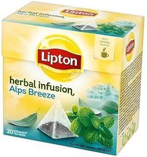 Lipton Herbal Infusion Alps Breeze - Premium Pyramid Tea Bags (20 Count Box) [PACK OF 3]