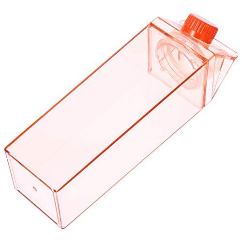 Uonlytech 500Ml Chiaro Scatola del Latte Bottiglia di Acqua di Palestra Motivazionale di Acqua Bottiglia Quadrata Bottiglia di Latte di Plastica Bottiglia di Succo di Frutta Portatile