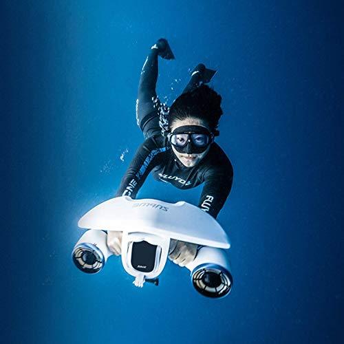 Scooter portátil bajo el Agua con Montaje de cámara de acción, Scooter eléctrico Impermeable de Doble Motor, Equipo de Buceo con Drones