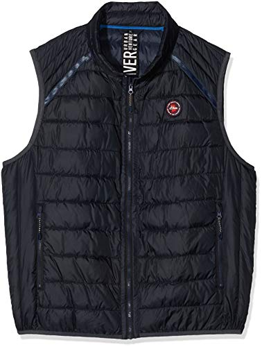 s.Oliver Big Size Herren 28.001.53.4692 Outdoor Weste, Night Blue, XXXX-Large (Herstellergröße: 4XL)