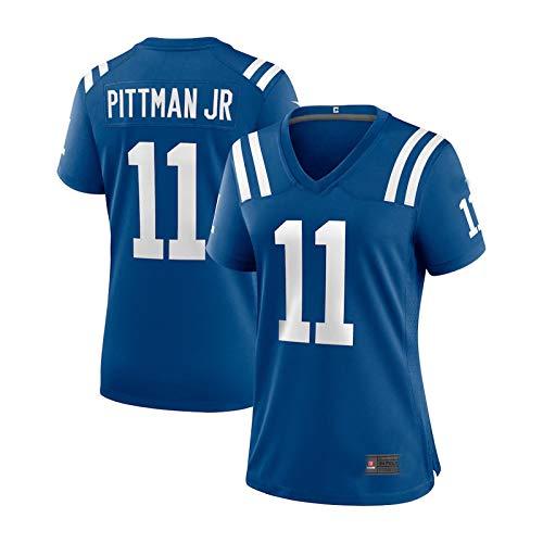 HUAML Pittman Jr Damen Herren Rugby-Trikot Colts # 11, Jugend Erwachsene American Football Rugby Shirt (XS - XXXXL) Gr. XS, Damen