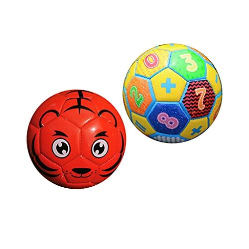 F Fityle 2 Paquetes de Pelota de Fútbol para Niños Pequeños, Juego de Deportes, Pelota de Espuma, Recreativa, Interior, Exterior